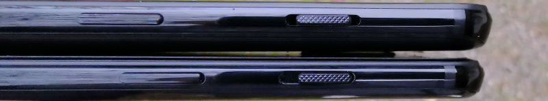 Lukitus- ja virtapainike sijaitsee OnePlus 6T:ssä hieman alempana kuin OnePlus 6:ssa.