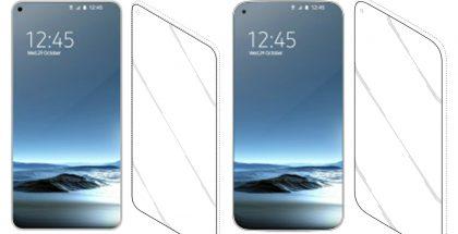 Samsungin Infinity-O-näyttöratkaisua muistuttavia kuvia patenttihakemuksesta. Tällaista odotetaan Galaxy S10 -malleihin.
