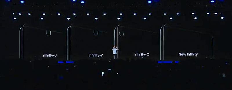 Samsungin uudet Infinity-näytöt sisältävät erilaisia lovia tai pyöreän aukon etukameralle.