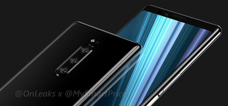 Sony Xperia XZ4. CAD-tiedoston perusteella luotu. Kuva: OnLeaks / MySmarPrice.