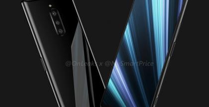 Sony Xperia XZ4 OnLeaksin yhdessä MySmartPrice-sivuston kanssa aiemmin julkaisemassa kuvassa.