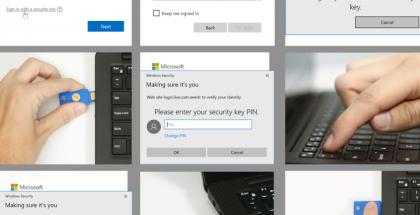 YubiKey ja Microsoft-tilille kirjautuminen.