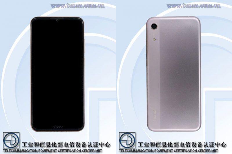 Uusi edullinen Honor-älypuhelin kiinalaisviranomaisen julkaisemissa kuvissa.
