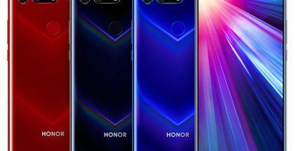 Honor V20:n värivaihtoehdot.