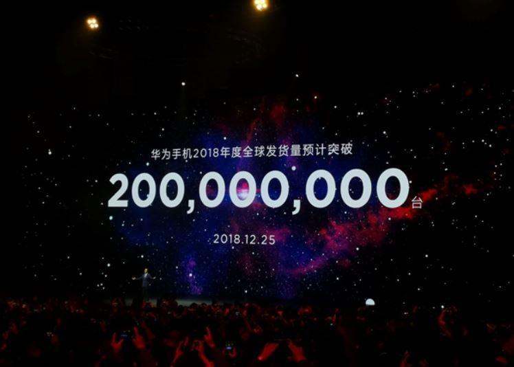 Huawei ennusti 200 miljoonan tänä vuonna toimitetun älypuhelimen rajan rikkoutuvan 25. joulukuuta, mutta onnistui siinä jo pari päivää aiemmin.