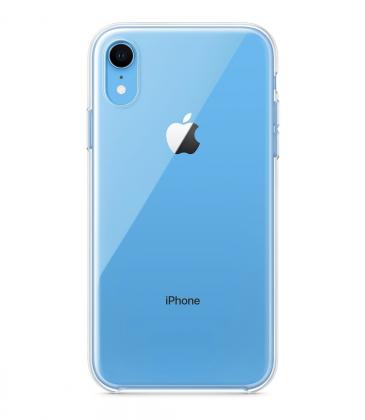 Applen kirkas silikonikuori iPhone XR:lle.