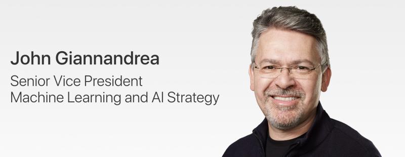 John Giannandrea on nyt Applen johtoryhmän jäsen.