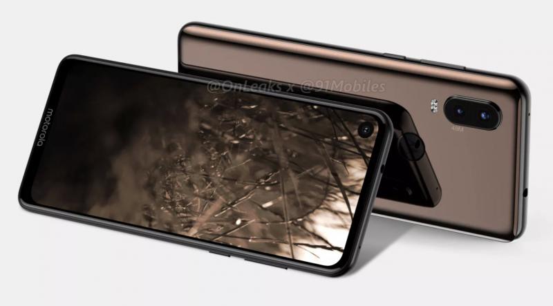 Motorola P40. Sama puhelin nähtäneen kansainvälisesti myynnissä One Vision -mallinimellä. Kuva: OnLeaks / 91mobiles.