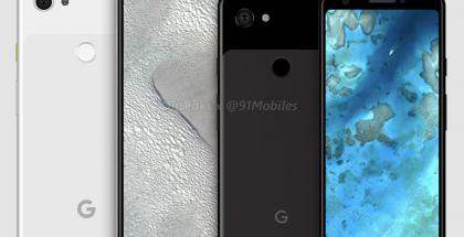 Tulevien edullisempien Pixel-puhelinten design OnLeaksin aiemmin tuottamassa kuvassa.