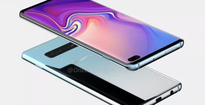 """Samsung """"Galaxy S10+"""" - mukana erillinen kuulokeliitäntä. OnLeaksin ja 91mobilesin julkaisema kuva."""