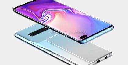 Erillinen kuulokeliitäntä on säilymässä. OnLeaksin yhdessä 91mobiles-sivuston julkaisema päivitetty Samsung Galaxy S10+:n designia esittelevä kuva.