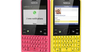 WhatsApp toimi tähän asti esimerkiksi Nokia Asha 210 -puhelimessa.