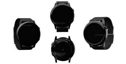 Samsungin tuleva älykello OnLeaksin julkaisemissa mallinnoskuvissa.