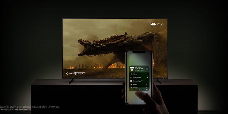 AirPlay 2 -tuen ansiosta Apple-laitteilla voi helposti siirtää katseltavaa televisioiden suuremmalle ruudulle.