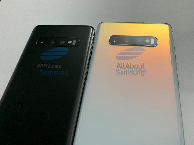 Sekä Galaxy S10:ssä että Galaxy S10+:ssa on takana kolme kameraa.