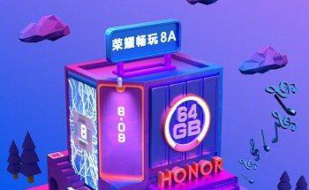 Julkaistu Honor 8A:ta ennakoiva kuva.