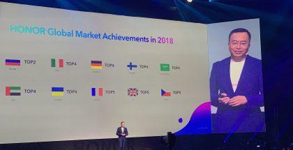 Honorin menestys Suomessa pääsi esille myös Honor View20 -lanseeraustilaisuudessa Pariisissa.