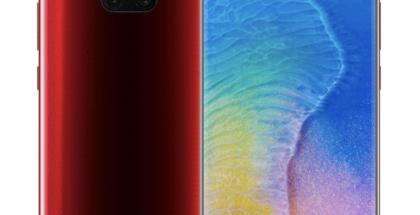 Huawei Mate 20 Pro punaisena.