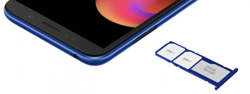 Huawei Y5 Lite sisältää kahden SIM-korttipaikan lisäksi erillisen muistikorttipaikan.
