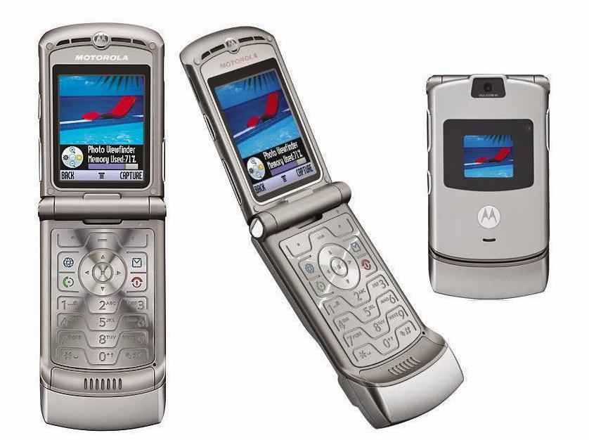 Tältä näytti alkuperäinen Motorola Razr.