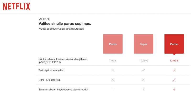 Suomessa Netflix-hinnat pysyvät ennallaan - ainakin vielä toistaiseksi.