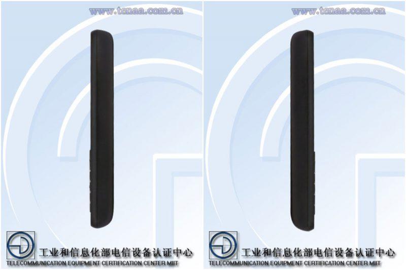 Nokia-peruspuhelin mallikoodiltaan TA-1139 Kiinan TENAA-viranomaisen julkaisemissa kuvissa.