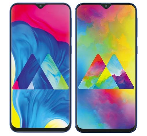 Galaxy M10 ja Galaxy M20 ovat pitkälti identtisiä designiltaan.