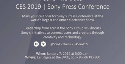 Sonyn ilmoitus julkistustilaisuudesta CES 2019 -messujen yhteydessä.