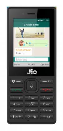 WhatsApp JioPhone-puhelimessa.