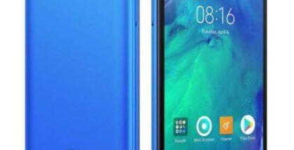 Redmi Go sinisenä värivaihtoehtona.