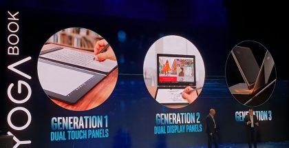 Lenovo on vihjaillut kolmannen sukupolven Yoga Bookin voivan tulla taittuvalla näytöllä.