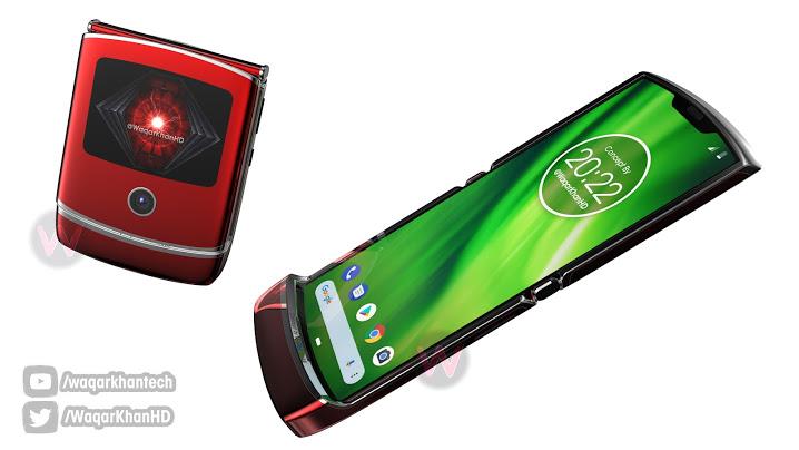 Jotain tällaista voi olla tulossa. Uusi taittuvanäyttöinen Motorola Razr, Waqar Khanin luomassa konseptikuvassa.