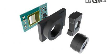 LG G8 ThinQ:n 3D ToF -kameramoduuli.