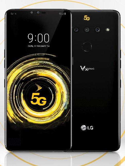 LG V50 ThinQ. Evan Blassin julkaisema kuva.