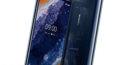 Nokia 9 PureView. Edestä ja takaa Gorilla Glass 5 -lasia, runko kyljiltä 6000-sarjan alumiinia. Reunoissa timanttileikkaukset.