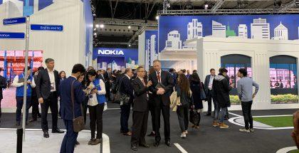 Nokian osastoa Mobile World Congress -messuilla vuonna 2019.