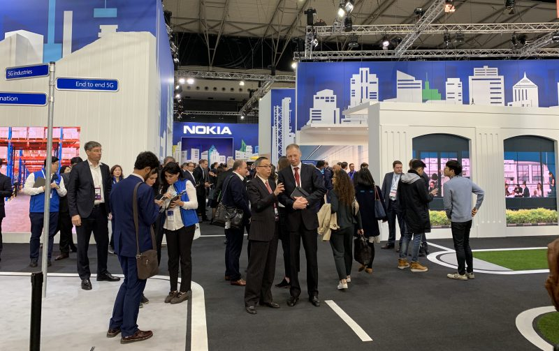Nokian osastoa Mobile World Congress -messuilla.