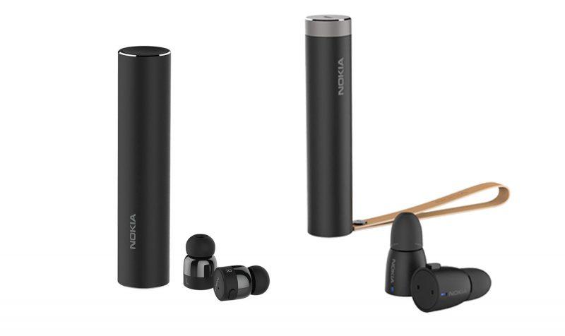Vasemmalla aiemmat True Wireless Earbuds -kuulokkeet, oikealla uudet 3-operaattorin kautta paljastuneet kuulokkeet. Kuva: NokiaMob.