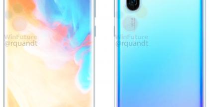 Huawei P30 Pro virallisessa vuotaneessa WinFuture.den julkaisemassa kuvassa.