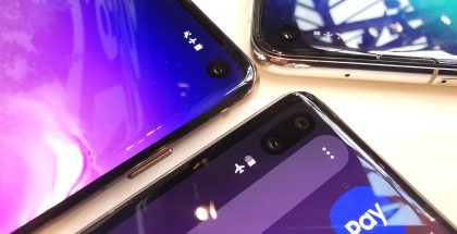 Galaxy S10+:ssa on lisänä toinen etukamera, Galaxy S10e:ssä ja Galaxy S10:ssä etukameroita on yksi.