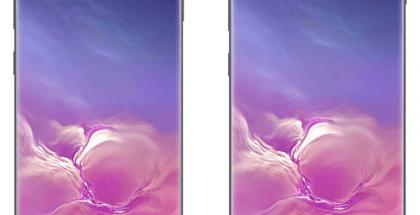 Samsung Galaxy S10:ssä on yksi etukamera, Galaxy S10+:ssa kaksi. Kuva: WinFuture.de.