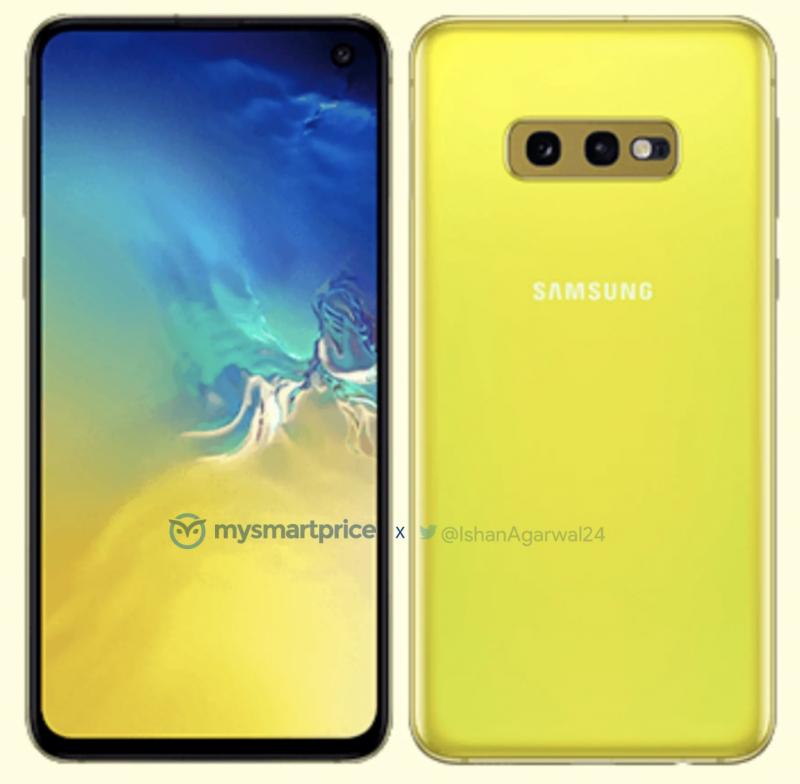 Samsung Galaxy S10e Canary Yellow -värisenä. Kuva: MySmartPrice / Ishan Agarwal.