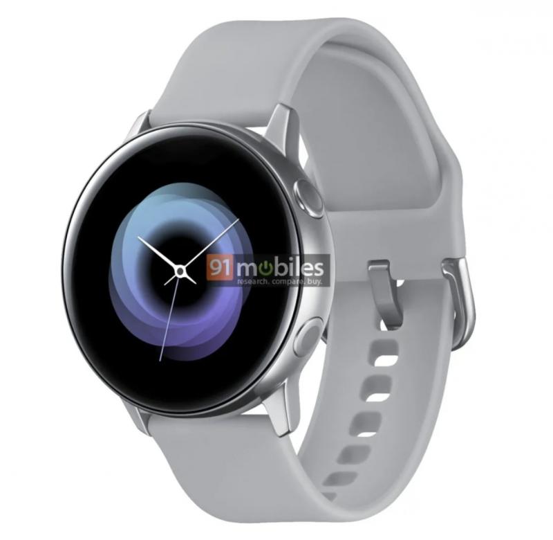 Uusi Samsung-älykello 91mobiles-sivuston julkaisemassa kuvassa.