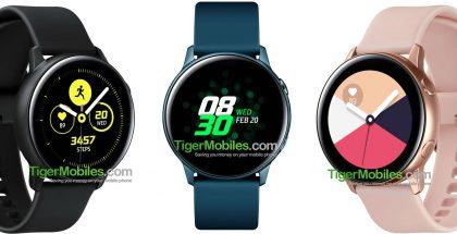 Uusi Samsung-älykello eri väreissä TigerMobiles.com-sivuston julkaisemassa kuvassa.