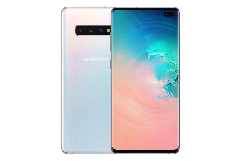 Samsung Galaxy S10+ Prism White.