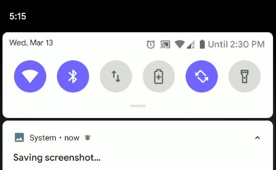 Android Q ilmoittaa uudesta ilmoituksesta sen yhteydessä näkyvällä kellokuvakkeella. Kuva: Android Authority.