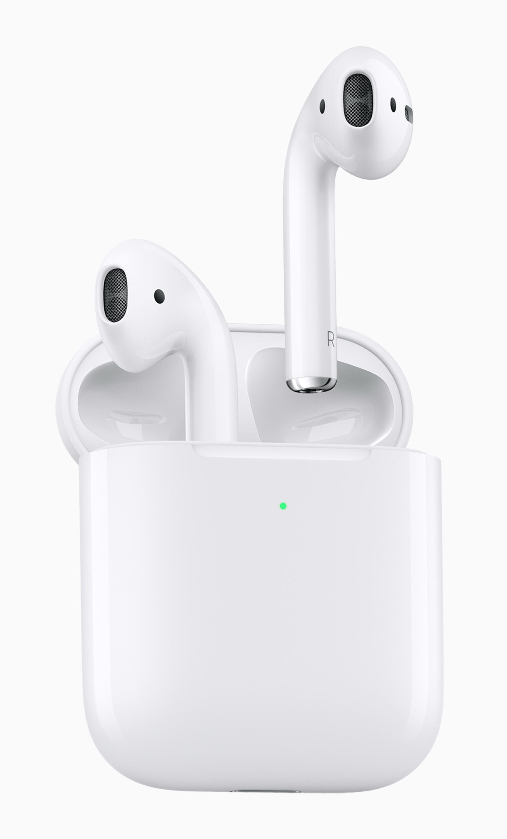Nykyiset toisen sukupolven AirPods-kuulokkeet.