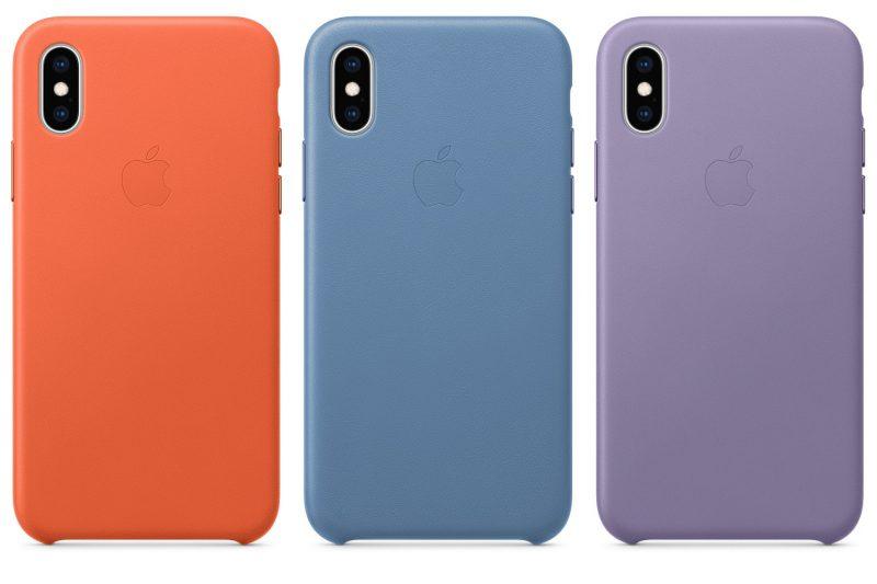 Uusia värejä iPhone XS ja iPhone XS Max -nahkakuorille ja-koteloille.
