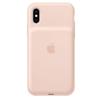 Smart Battery Case -akkukuori iPhone XS:lle ja iPhone XS Maxille sai hietaroosavärin.