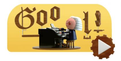 Google-doodle kunnioittaa tänään säveltäjä Johann Sebastian Bachia.